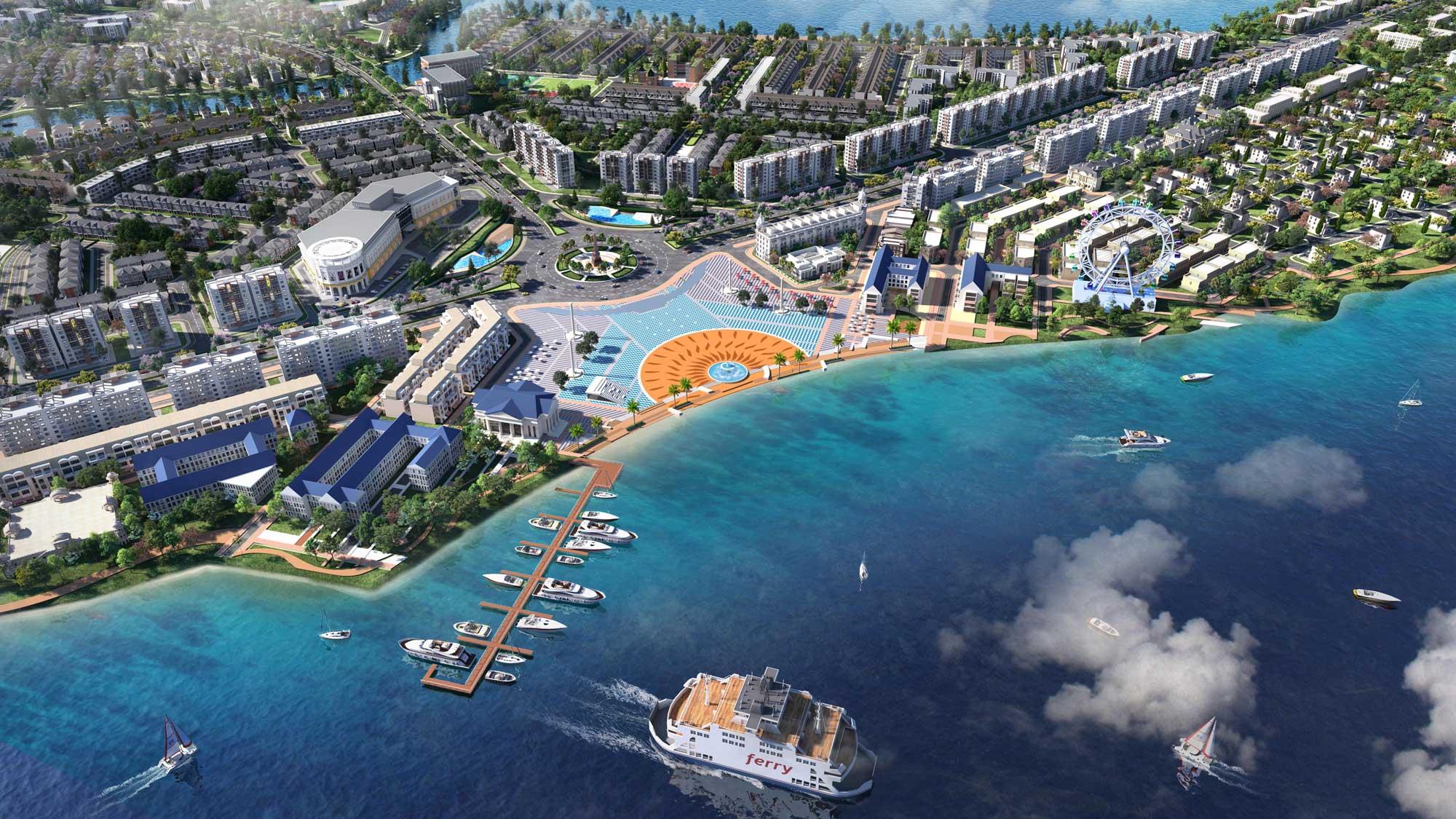 Quảng trường Aqua Marina tại dự án aqua City
